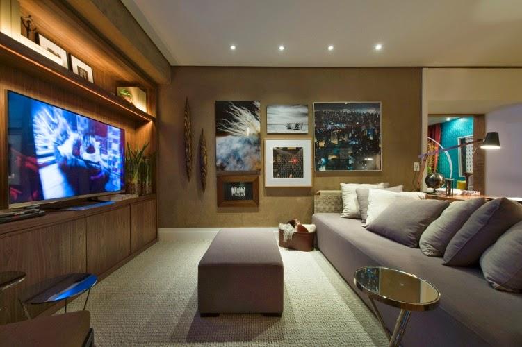 iluminação perfeita para sala de tv