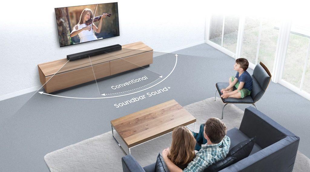 Sistema SoundBar sem fio: uma ótima experiência de um home theater