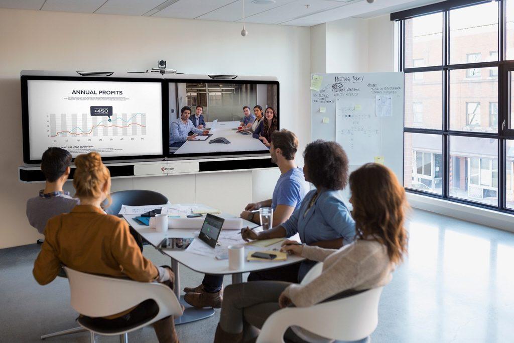 tecnologia de sua sala de reuniões